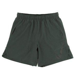 NIke Dri-Fit Shorts Swoosh Logo Drawstring Gray